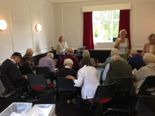 Singing at Danby Village Hall