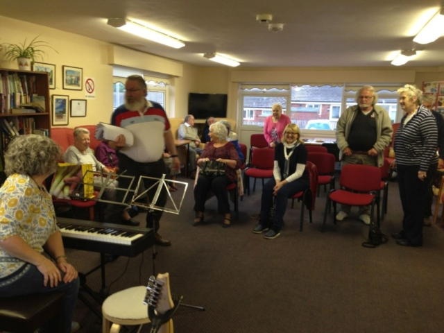 Getting ready to sing with Whitby Heart Support Group