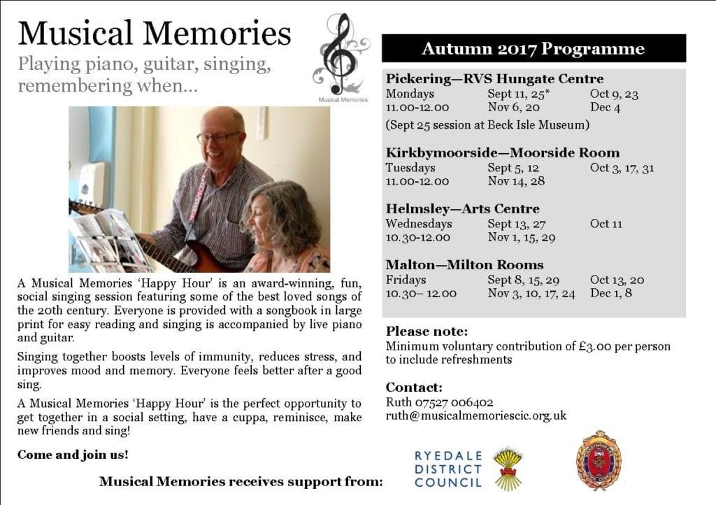 Autumn 2017 Programme